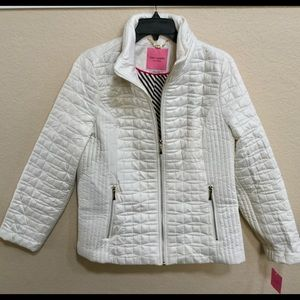 FiRM.Kate Spade New York Bow Quilt Jacket In Cream